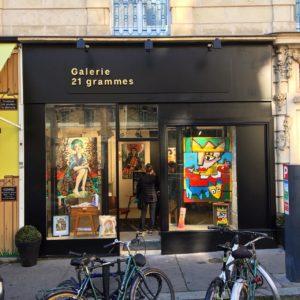 Enseigne Galerie 21 grammes Nantes