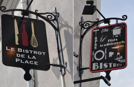 Enseigne bois extérieure Restaurant Le Bistrot de la Place Nantes
