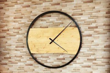 Création décorative Horloge en bois murale