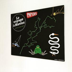 Création décorative murale peinture Le Voyage à Nantes