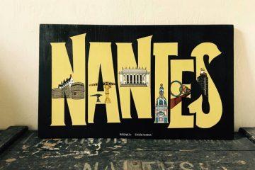 Création décorative bois sur Nantes et ses monuments emblématiques