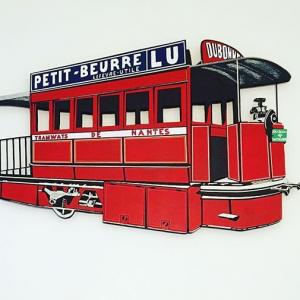 Création murale décorative Tramway Nantais